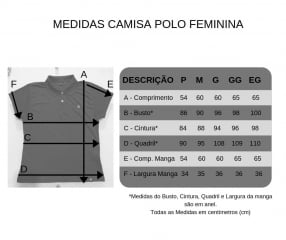 CAMISA GOLA POLO FEMININA - CORES DIVERSAS