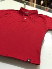 Blusa Feminina Gola Polo Vermelha